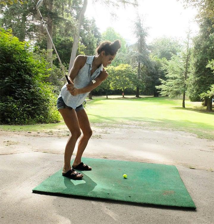 Allison Stokke, a former pole vaulter and model.