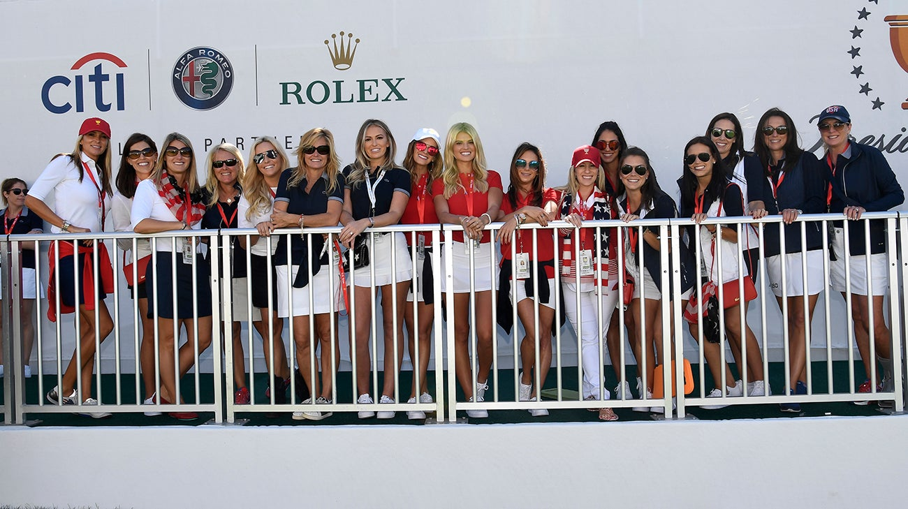 presidents cup wives and girlfriends at liberty national