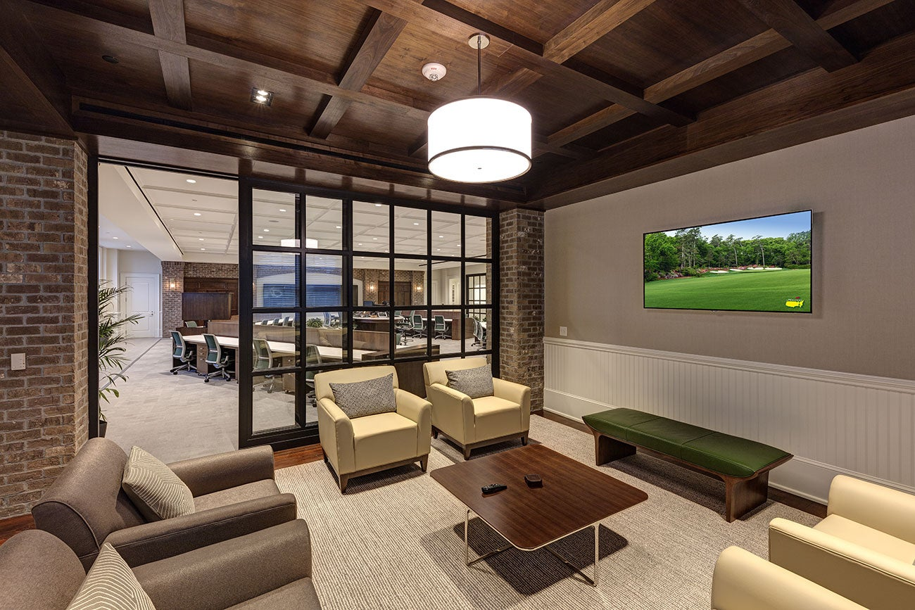 Excellent Masters Media Center Tour The Breathtaking Facility Gmtry Best Dining Table And Chair Ideas Images Gmtryco